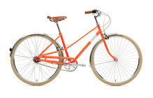 Creme Caferacer Doppio Stadsfiets Dames 7-speed, dynamo oranje